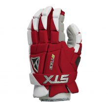 STX Cell V Lacrosse Glove-Red-Small 10""