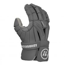 Warrior Burn Pro 2018 Lacrosse Glove-Grey-Medium 12""