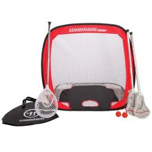 Warrior Mini Lacrosse Pop Up Set with Travel Bag