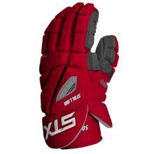 STX Stallion 500 Lacrosse Gloves-Red-Medium 12""
